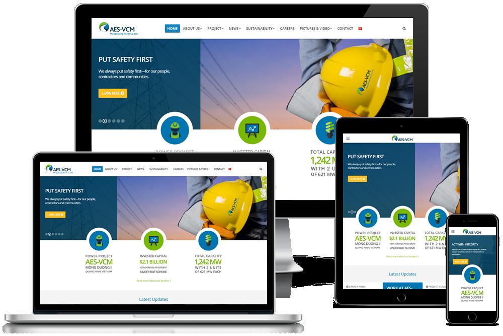 Thiết kế website tập đoàn aes mông dương hoa kỳ