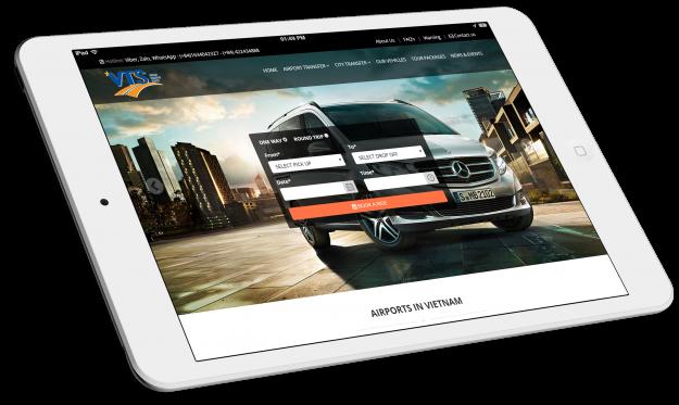 Thiết kế website Thuê xe trực tuyến