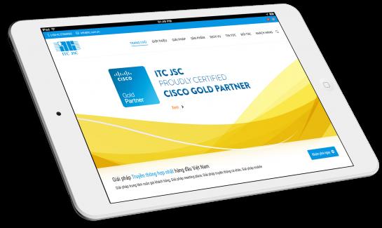 Thiết kế website Công ty Bảo mật ITC