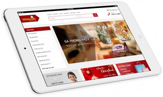 Thiết kế website Công ty đá quý Vinagems