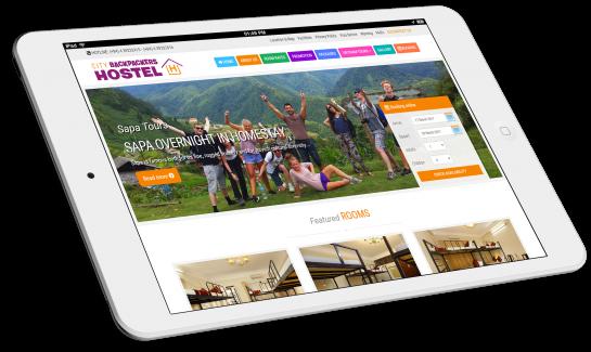 Thiết kế website khách sạn Hanoi City Backpackers Hostel