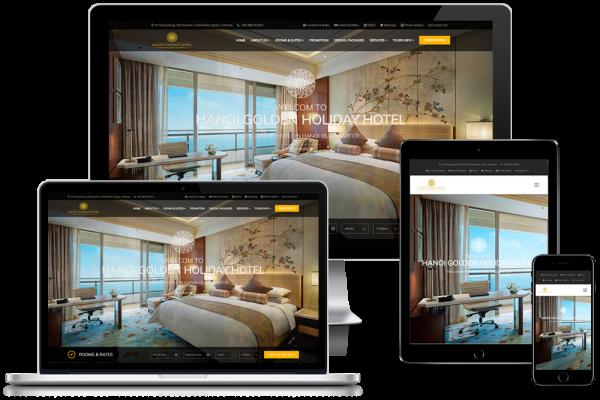 Thiết kế website khách sạn, khu nghỉ dưỡng, hotel, hostel, resort