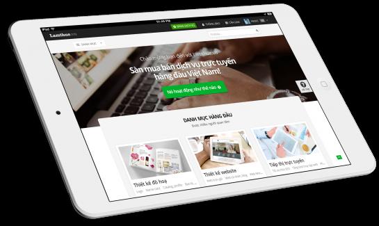 Thiết kế websiye sàn giao dịch dịch vụ