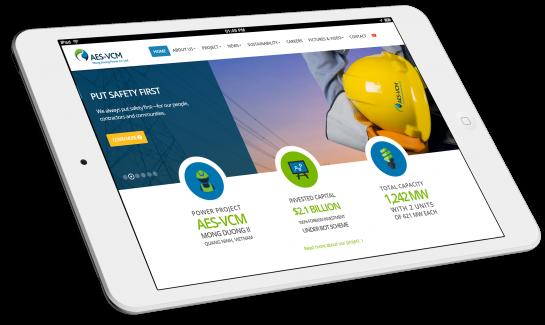 Thiết kế website Tập đoàn AES Hoa Kỳ