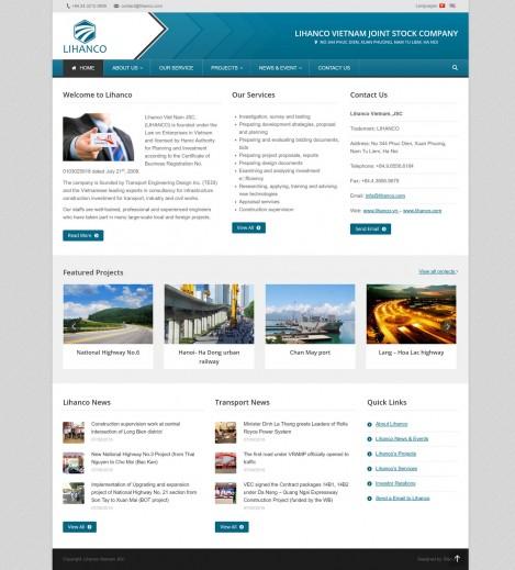 Thiết kế website công ty Lihanco