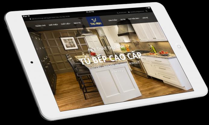 Thiết kế website Công ty Nội thất Thu Anh