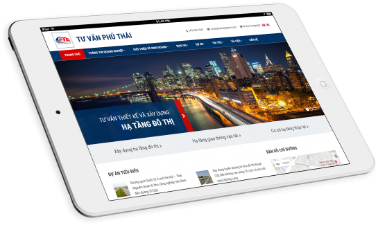 Thiết kế website công ty Phú Thái