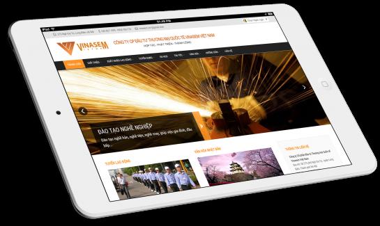 Thiết kế website Công ty xuất khẩu lao động Vinasem