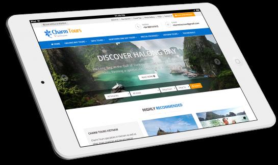 Thiết kế website du lịch Charm Tours Vietnam