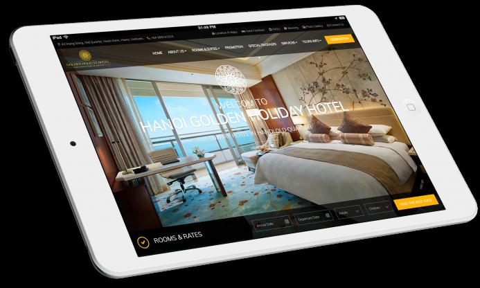 thiết kế website khách sạn hạng sang Hanoi Golden Holiday Hotel