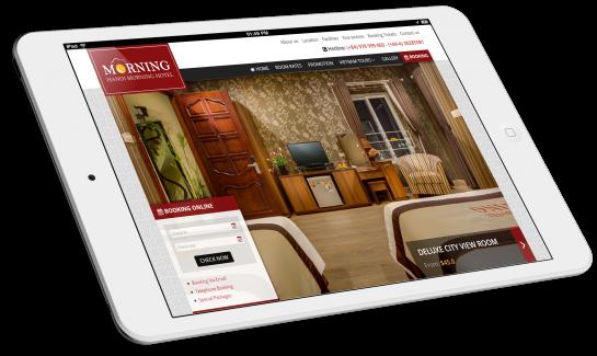 Thiết kế website khách sạn Hanoi Morning Hotel,