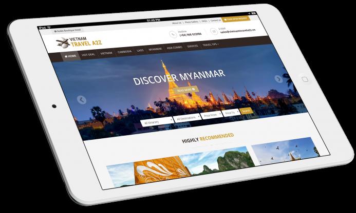 Thiết kế website du lịch Vietnam Tours A2Z