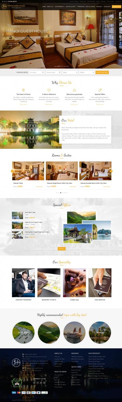 Thiết kế website khách sạn Hanoi Guest House