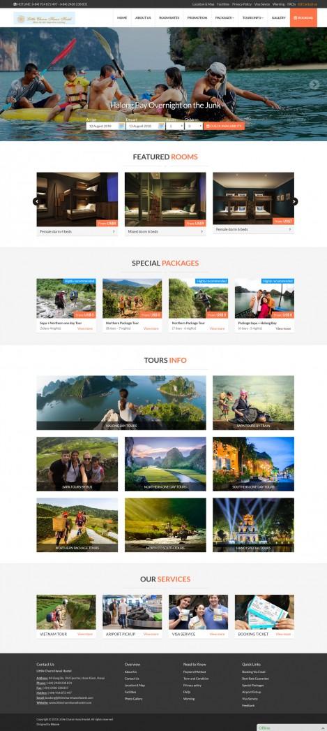 Thiết kế website khách sạn Littile Charm Hanoi Hostel